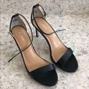 Express Strappy Heels - Black - Size 8
